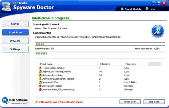pc tools spyware