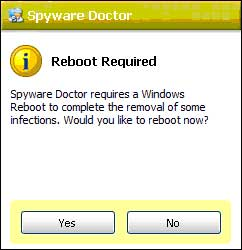 A Reboot is Required After Cleaning Spyware Infections